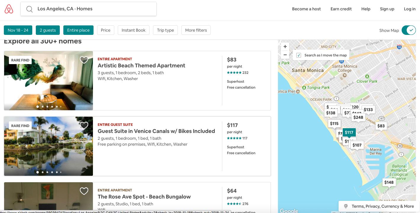 איך מוצאים דירת airbnb
