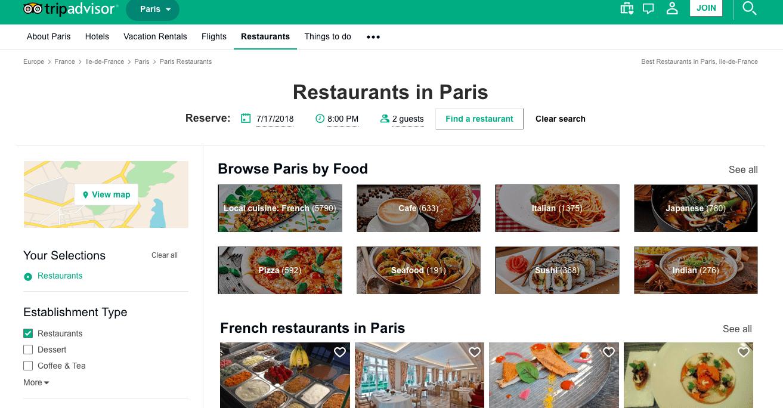 ביקורות על מסעדות בפריז