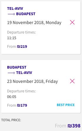 טיסה זולה לבודפשט שווקי כריסמס