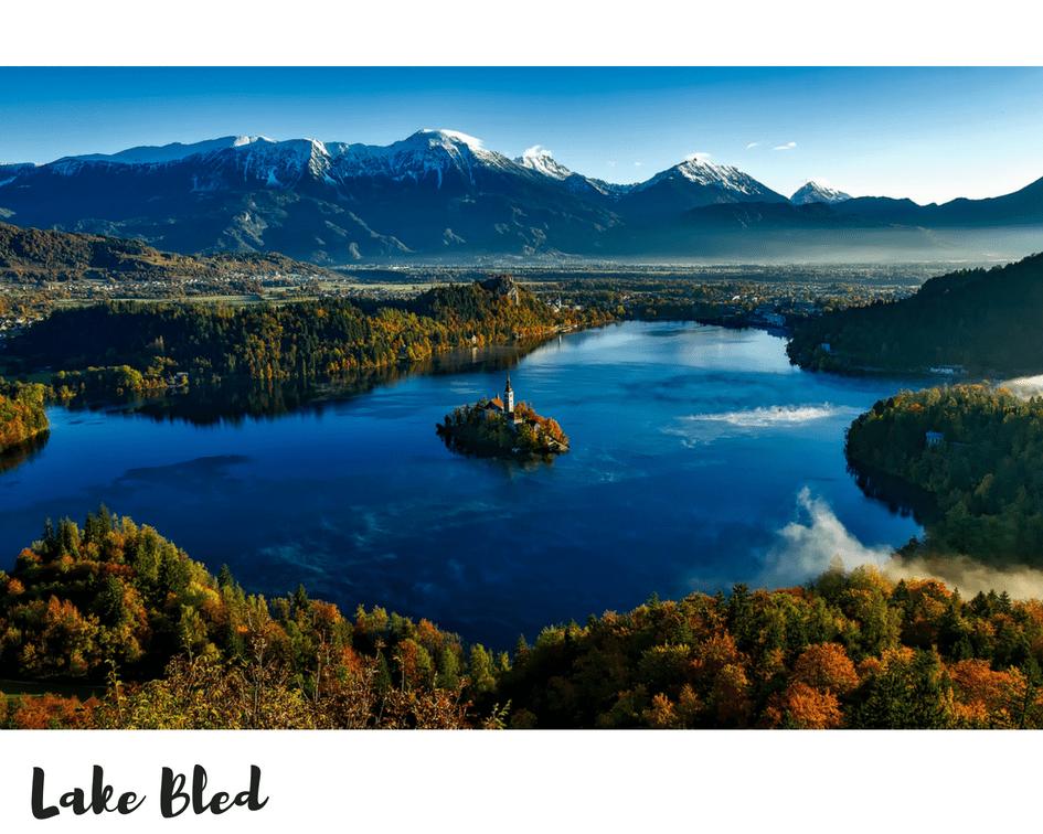 טיול רומנטי בסתיו אגם בלד סלובניה