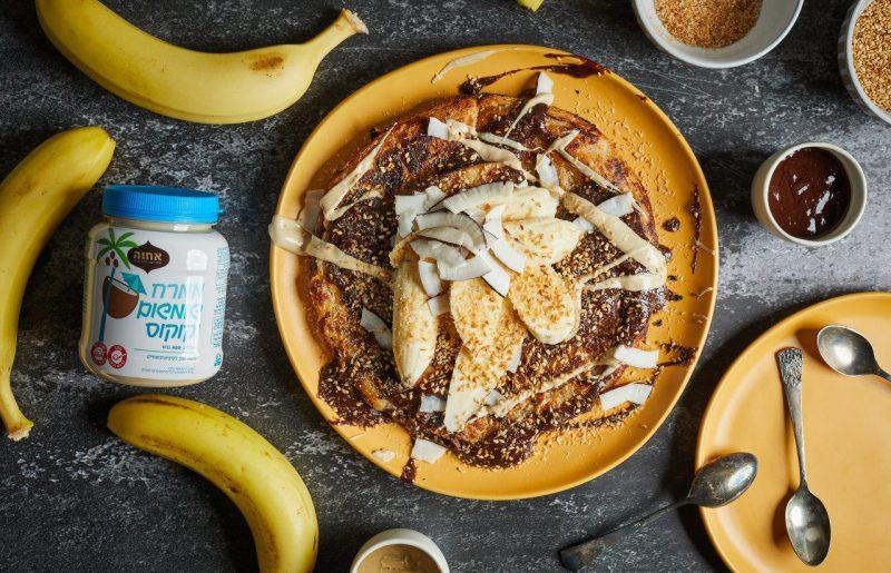 """""""אחוה"""" והשף עומר מילר מגישים מתכון חגיגי ומפנק לרגל יום המשפחה: מלאווח בננה לוטי"""